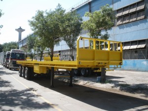 flatbed container trailer