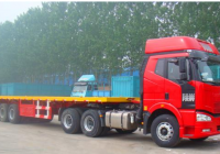 China's protocol of flatbed container trailer transportation