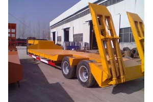 low bed trailer in oil industry