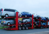 car carrier trailer in 3 layer