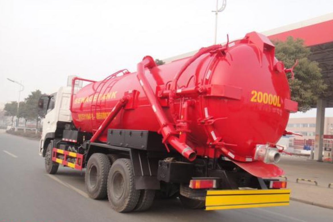 the common malfunction of sewage vacuum tanker trailer